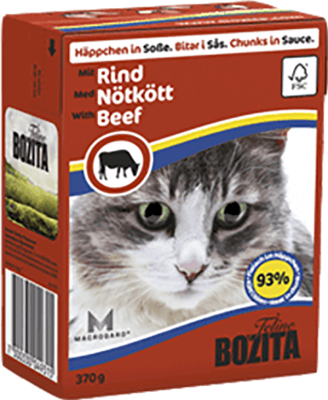 Bozita Cat Kylling & Biff i Saus 16 x 370 g