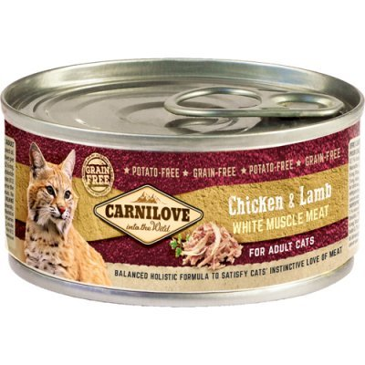 Carnilove Cat Kylling & Lam Adult 12 x 100g