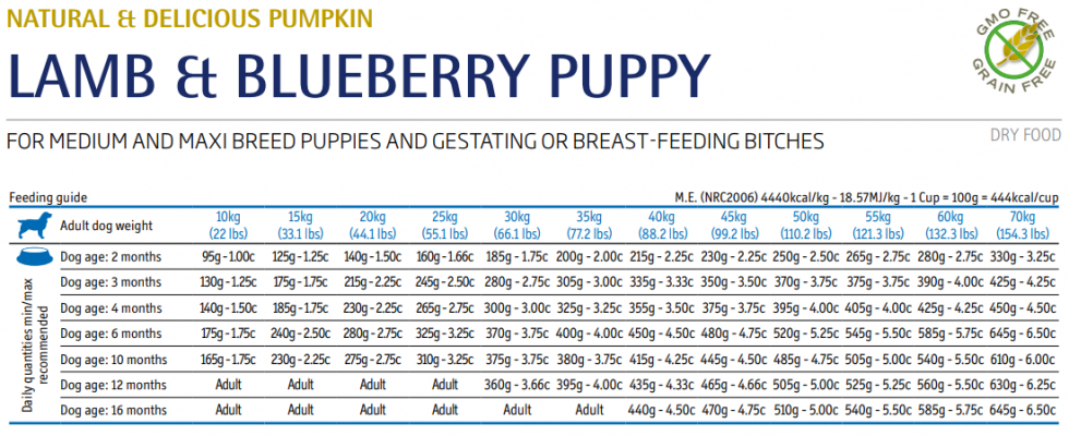 Farmina N&D Dog Pumpkin Lamb & Blueberry Puppy Med/Max 12 kg