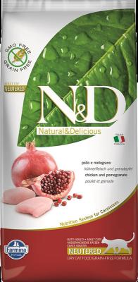 Farmina N&D Cat Grain-Free Chicken & Pomegranate Neutered