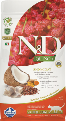 Farmina N&D Cat Quinoa Skin & Coat Herring