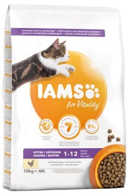 Iams Kitten & Junior Kylling