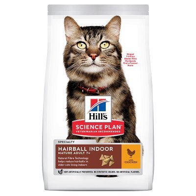 Hill's Science Plan Cat Mature Adult 7+ Hairball Indoor