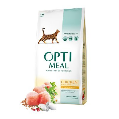 OPTIMEAL Cat Adult & Senior Chicken with Dental Care