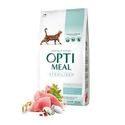 OPTIMEAL Cat Adult & Senior Sterilised & Urinary Care Turkey