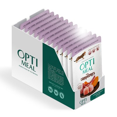 OPTIMEAL Cat All Age Lamb and Chicken Fillet in Pumpkin Jelly