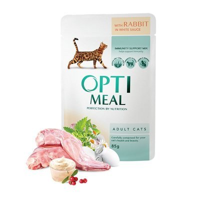 OPTIMEAL Cat Adult & Senior Rabbit in Gravy