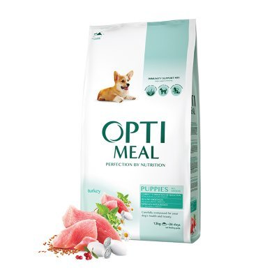 OPTIMEAL Dog Puppy All Breeds Healthy Digestion Turkey