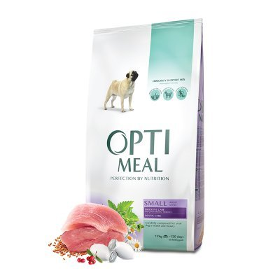 OPTIMEAL Dog Adult & Senior Small Breed Duck with Digestive & Dental Care
