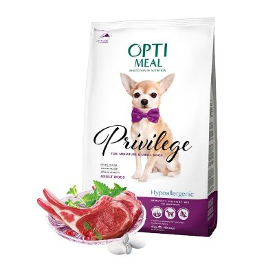 OPTIMEAL Dog Adult & Senior Small Breed Hypoallergenic Lamb & Rice