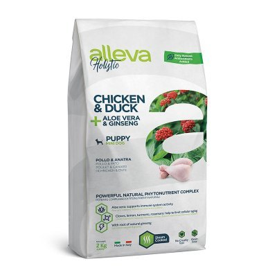Alleva Holistic Puppy Mini Chicken & Duck + Aloe Vera & Ginseng