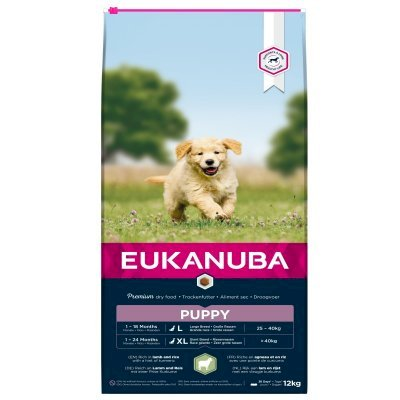 Eukanuba Puppy Large Breed Lam og Ris