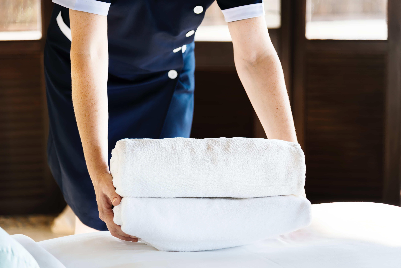 Sjekk hva hotellet tillater, for eksempel om hunder kan bruke håndkle og seng.